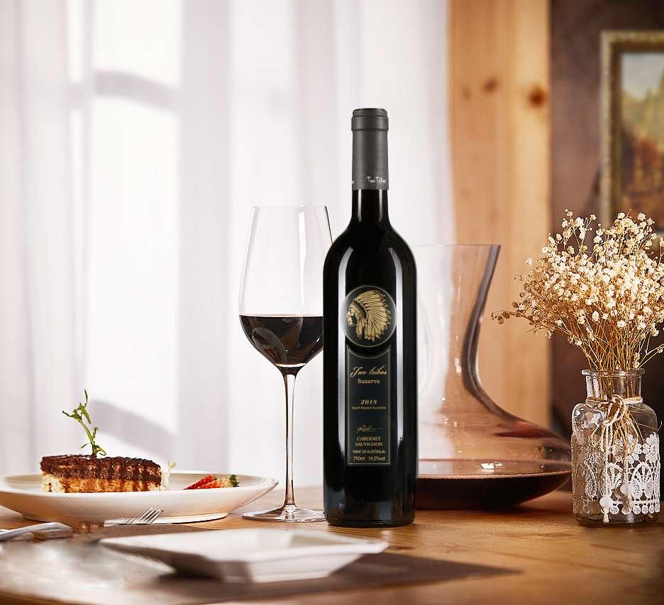 澳洲部落珍藏赤霞珠干红葡萄酒 澳大利亚红酒