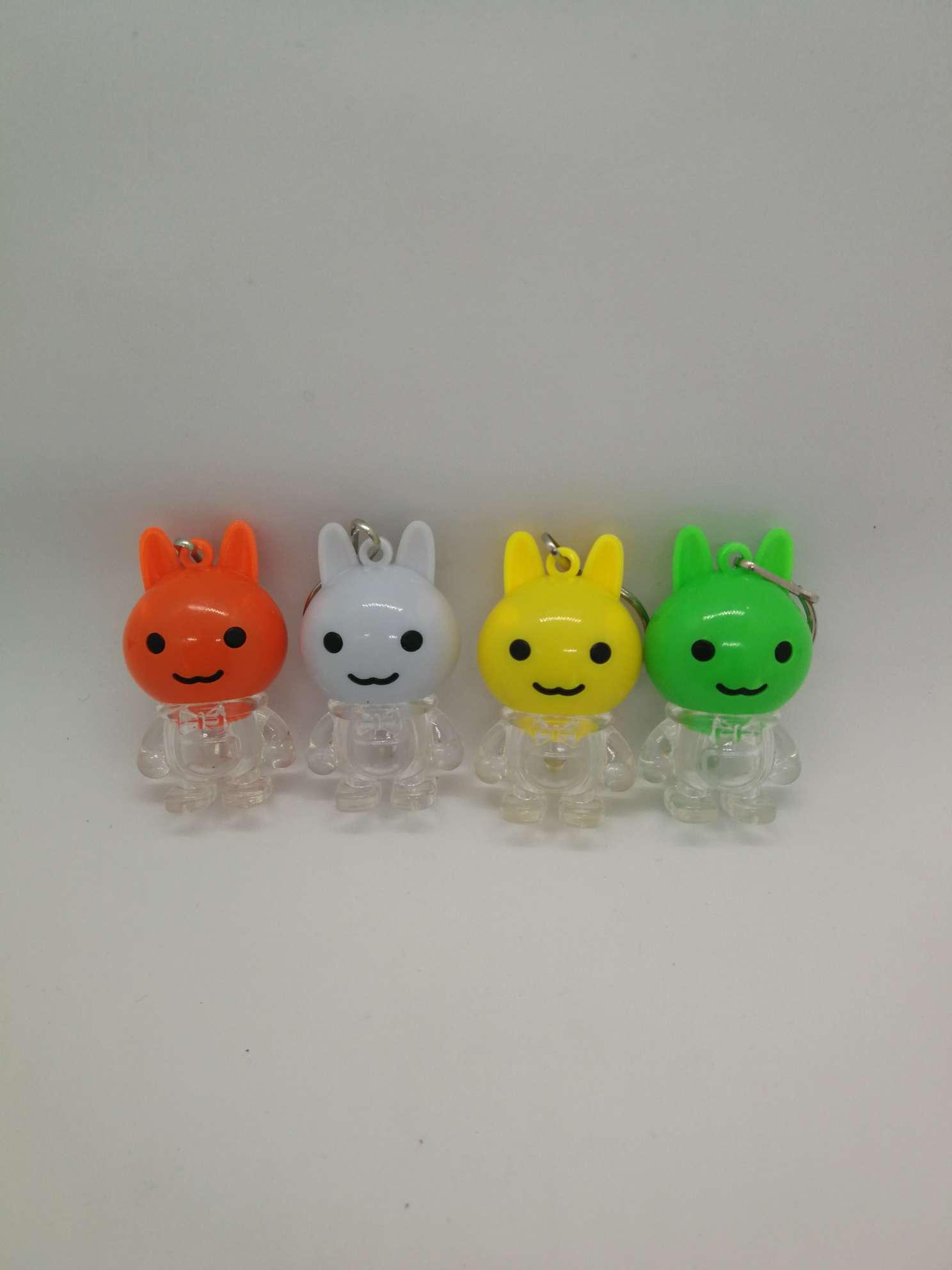 发光玩具 闪光小兔钥匙扣灯 厂家直销