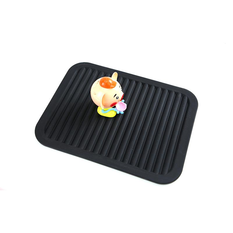 热销爆款创意家用硅胶隔热垫厨房耐高温食品级硅胶长方形杯垫定制