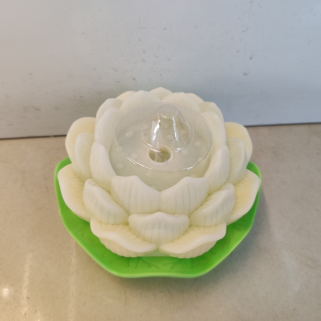 塑料发光莲花荷花蜡烛电池生日摆件