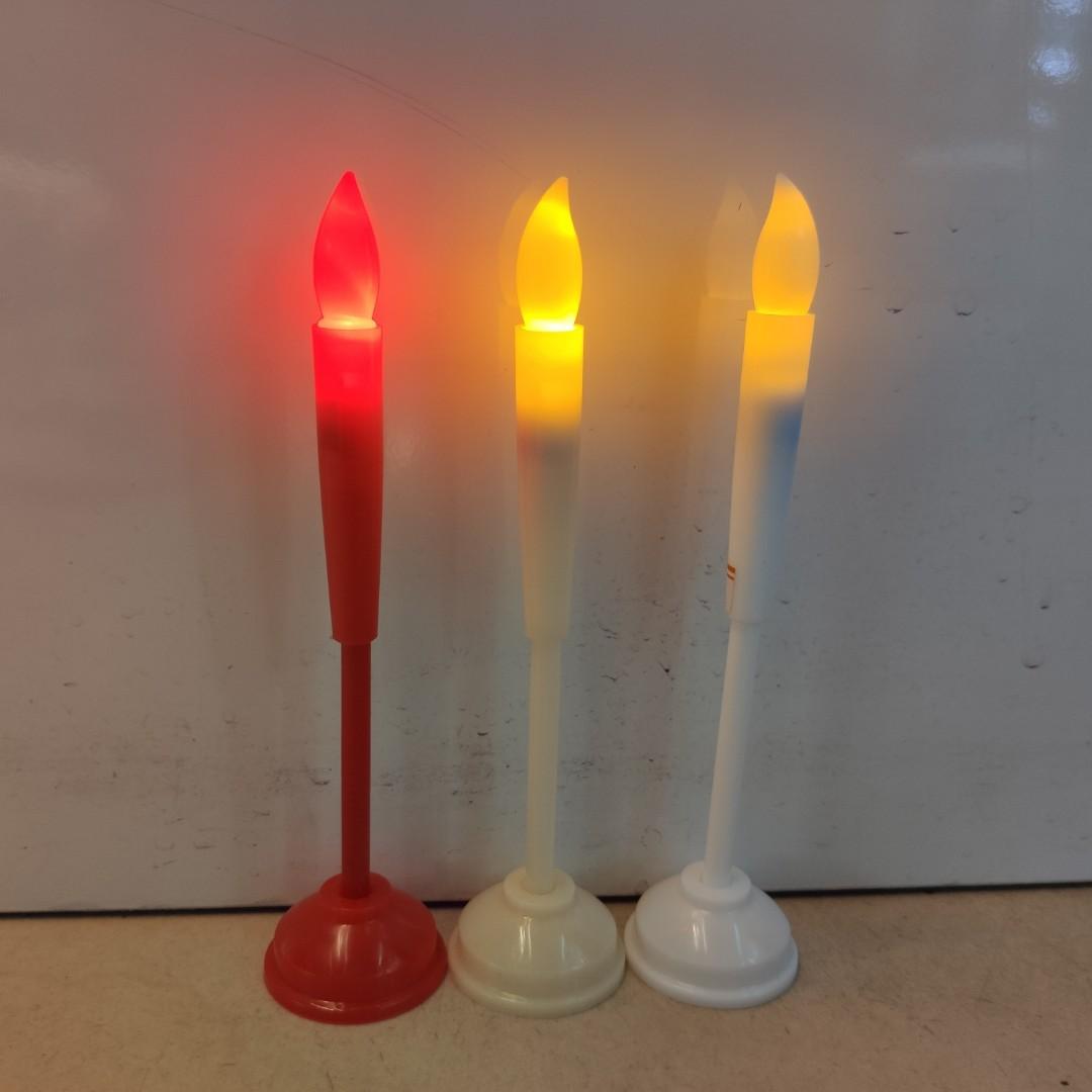 电子塑料摆件蜡烛节日氛围生日