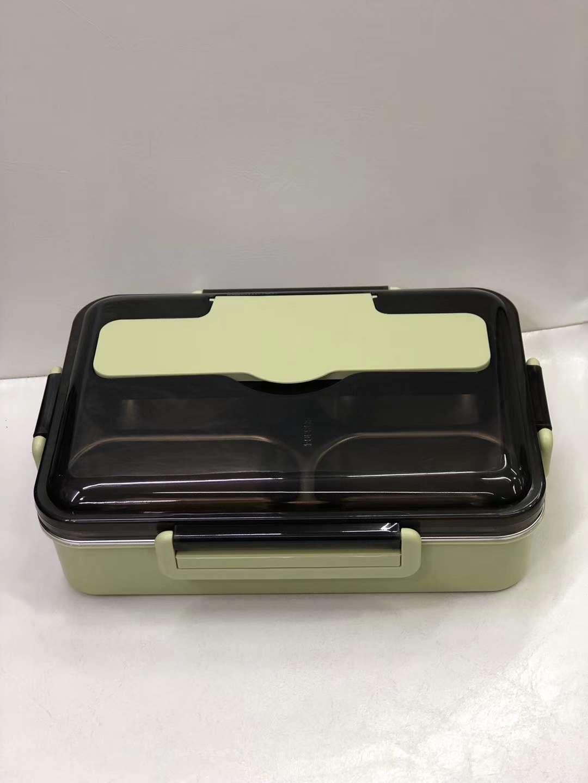 纳味轩带筷勺四格饭盒