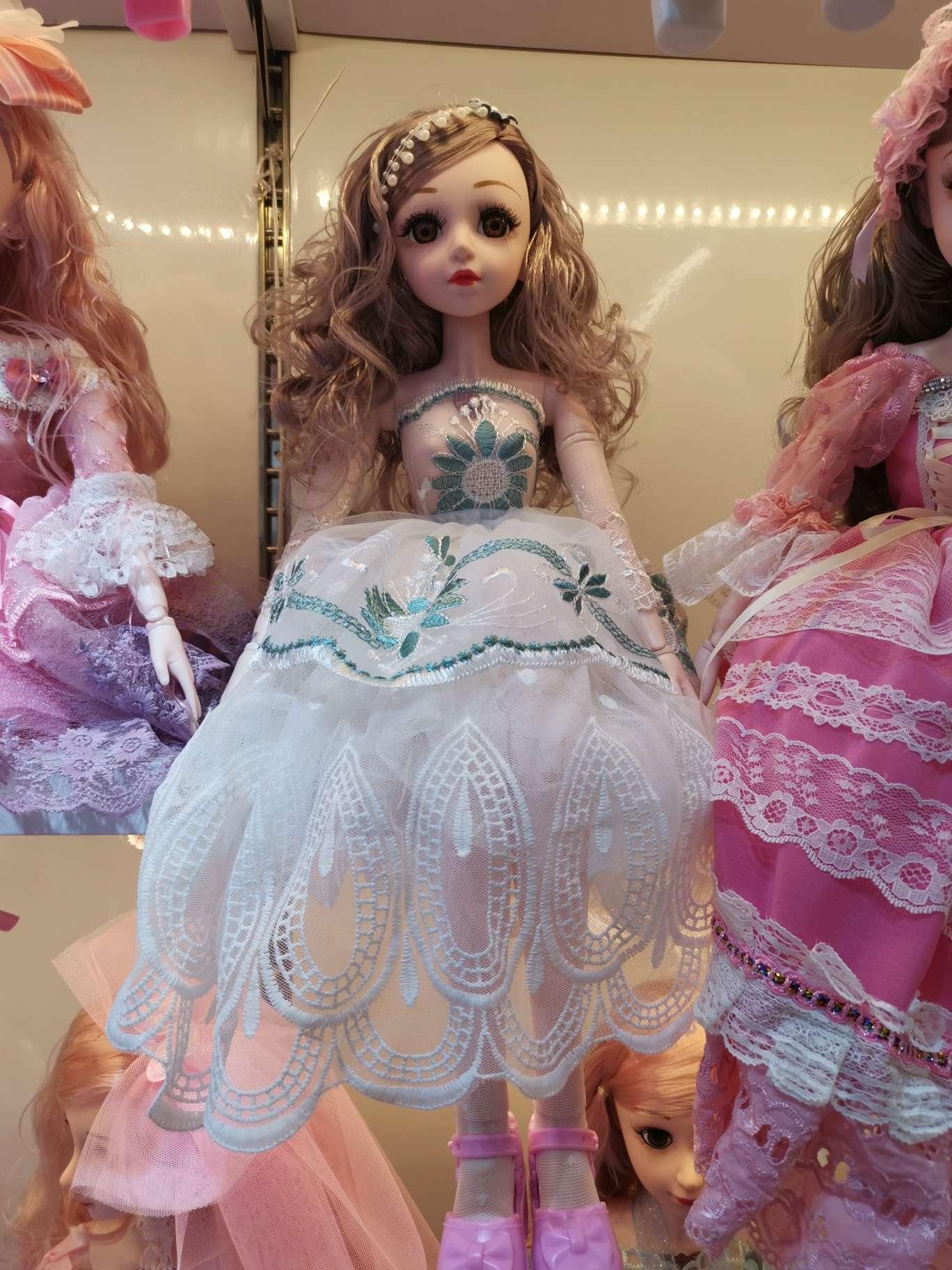 精美优雅 芭比娃娃公主 60公分 音乐  灯光 多关节