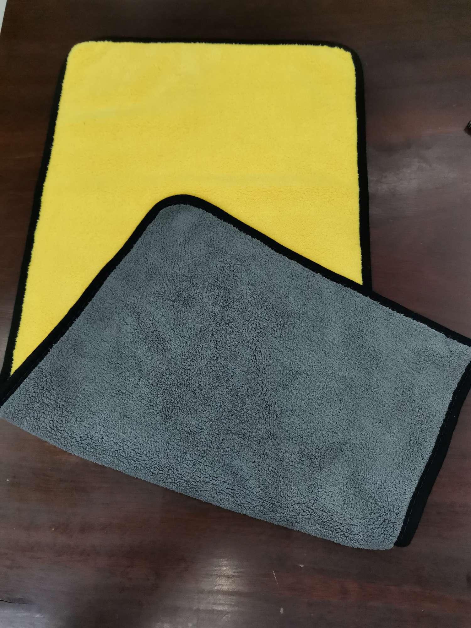 丿LZ-144洁丽竹汽车洗车毛巾擦车布专用巾吸水加厚擦玻璃不留痕大号抹布工具用品60*30挂绳双面双色