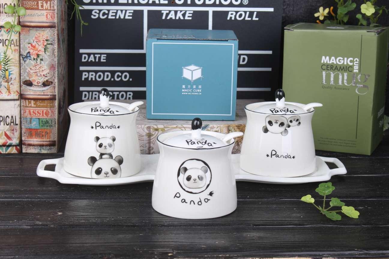MFJJ熊猫系列调味罐