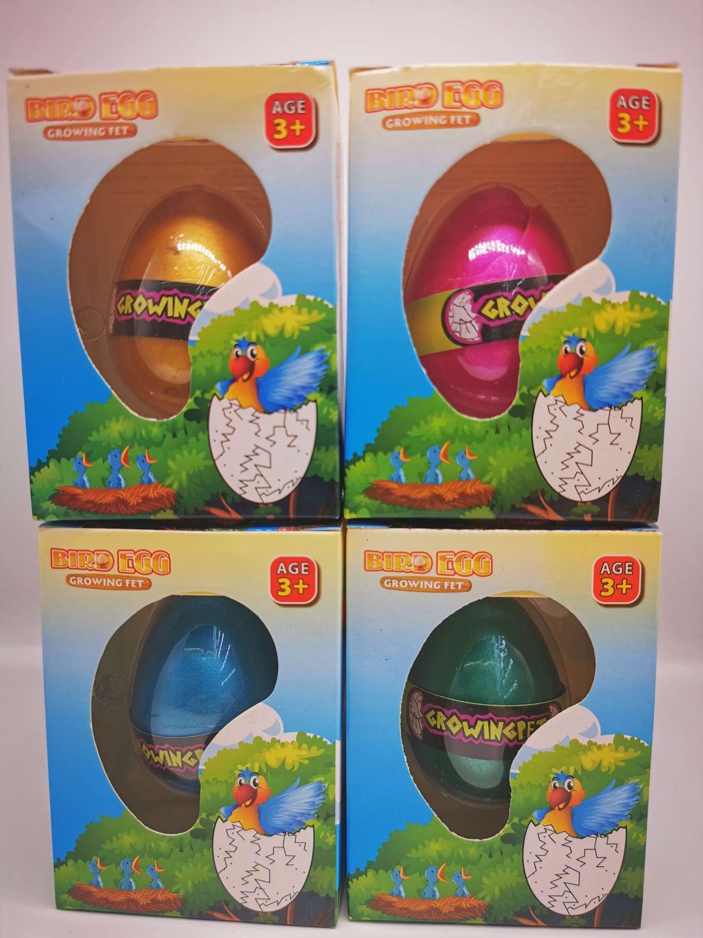 厂家直销,泡水膨胀益智玩具孵化恐龙蛋(盒装小鸟蛋)
