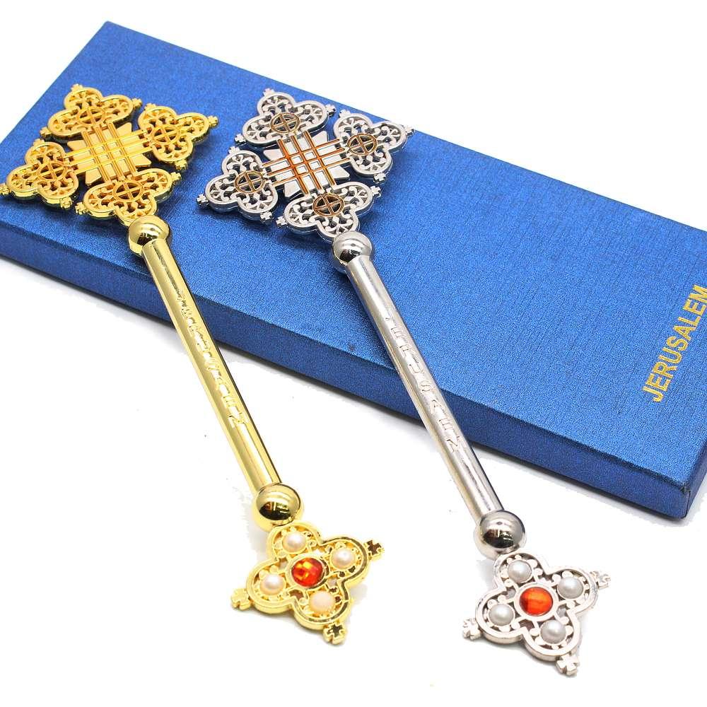 宗教祷告仪式用品手持十字架JERUSALEM 出口外贸热销