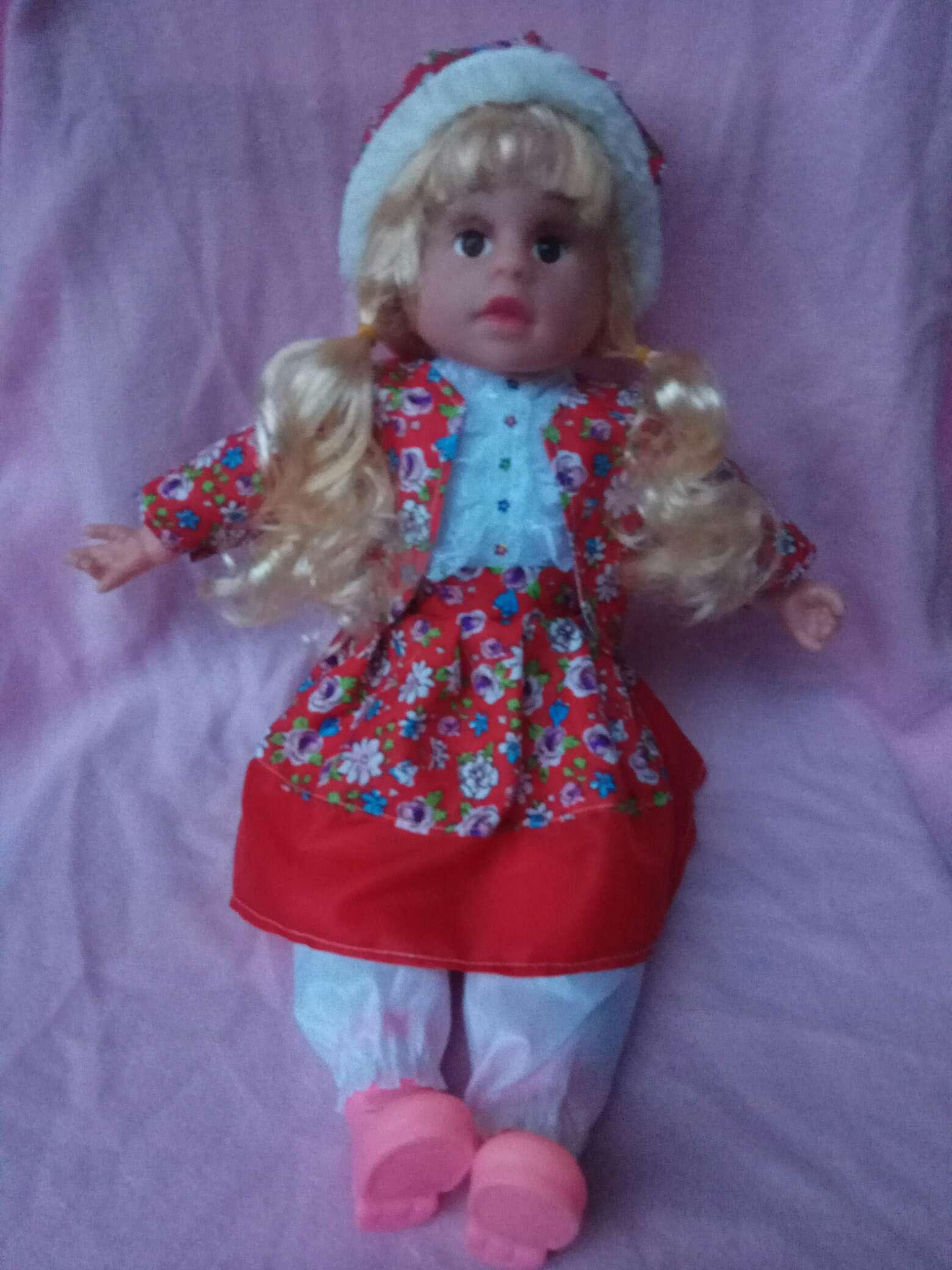 仿真娃娃婴儿洋娃娃18寸仿真娃娃红色小花跨境热销爆款益智儿童玩具