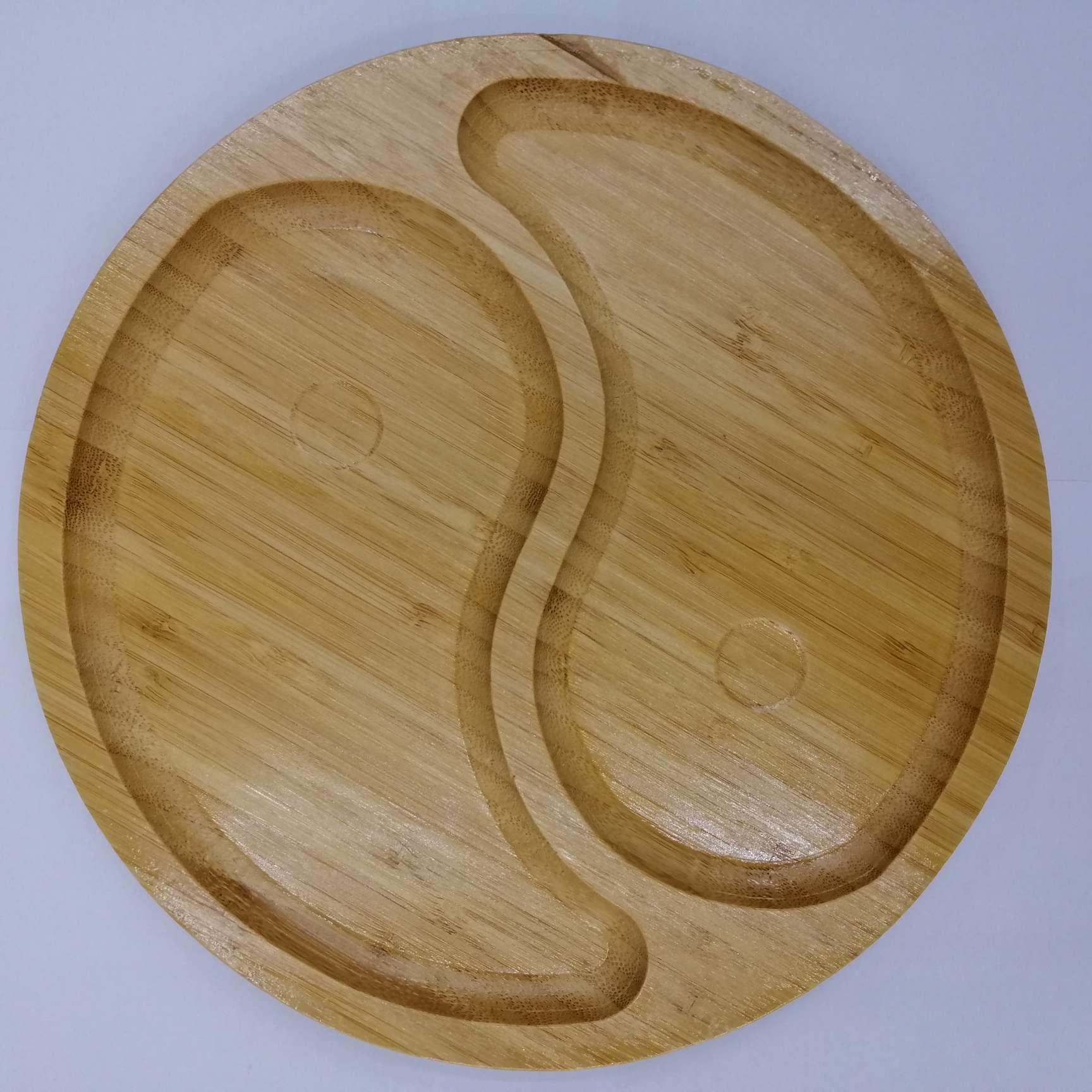 竹制大号圆形小托盘茶托水果盘干果坚果盘环保