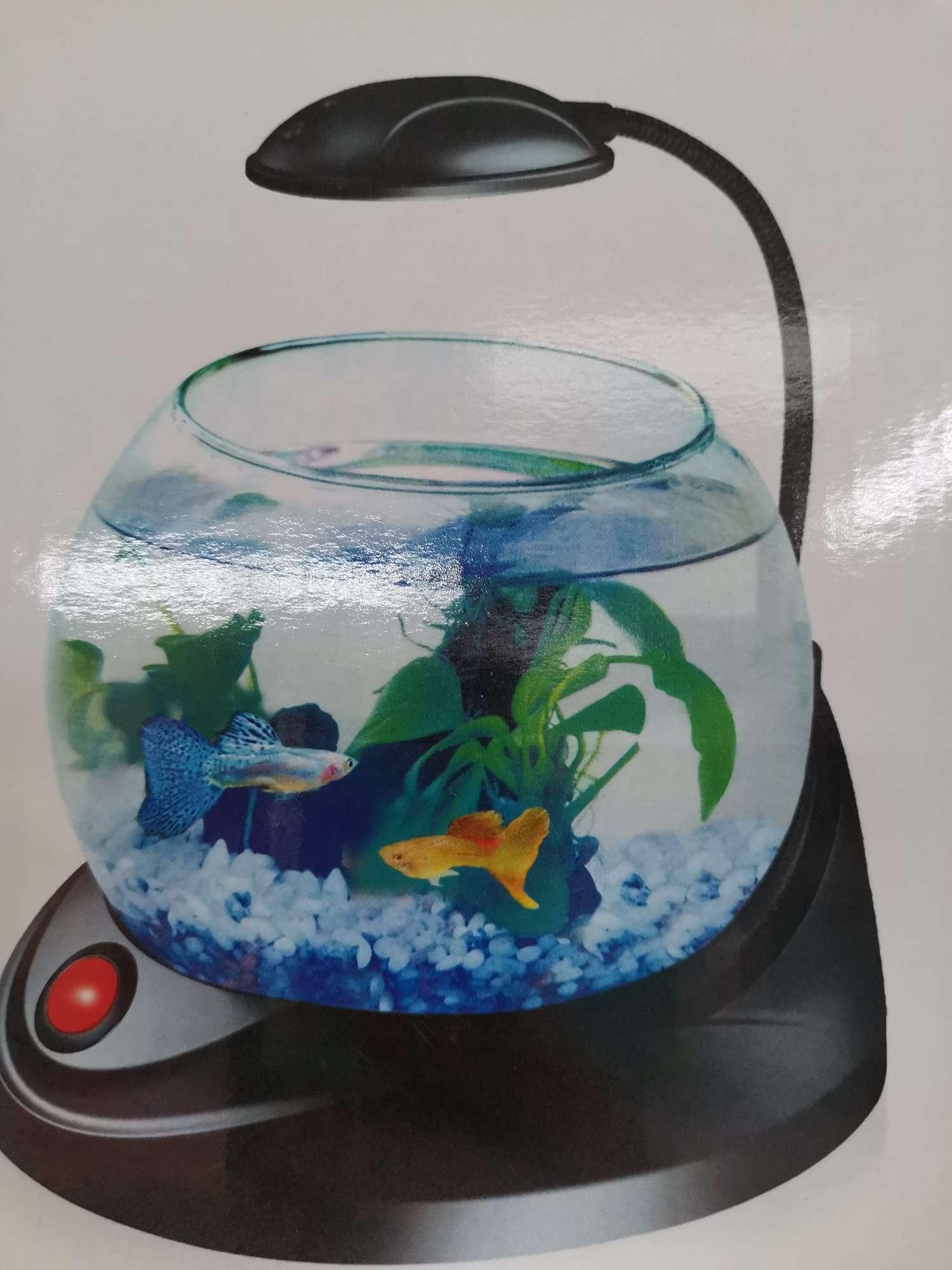 鱼缸水族箱桌面客厅家用小型自循环懒人免换水玻璃生态金鱼缸桌面迷你小鱼缸鱼碗