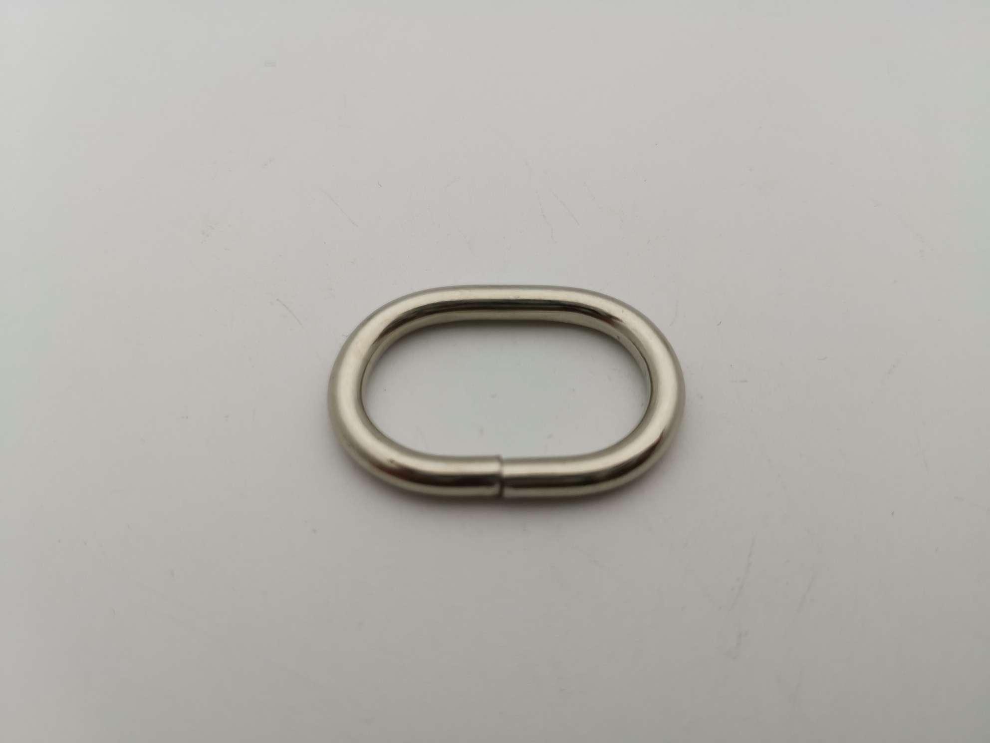 箱包配件 3.5线 内径25.5*15mm 椭圆铁线圈 旦形扣131