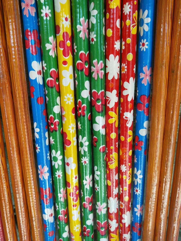 木杆扫把杆拖把杆1.2米包塑杆油漆杆花草杆