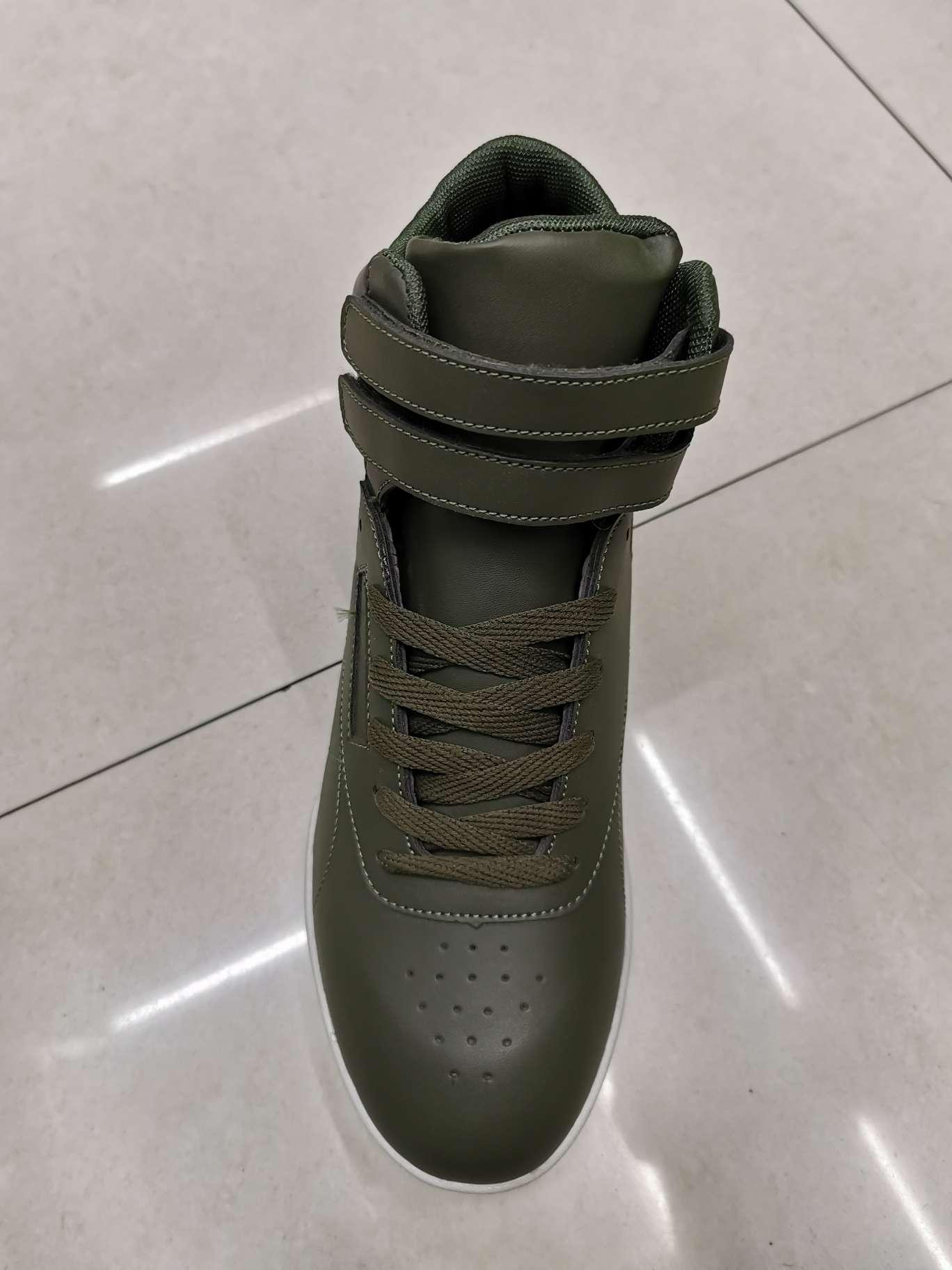 高帮板鞋军绿色