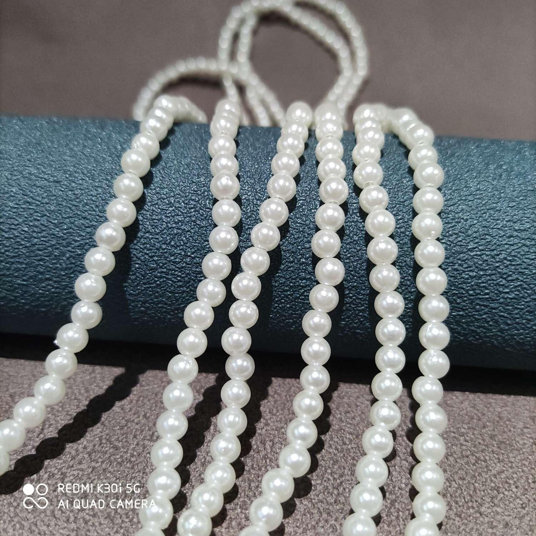 仿珍珠眼镜链 手工串珠口罩装饰链挂绳 穿珠眼镜防滑链珍珠眼镜挂绳