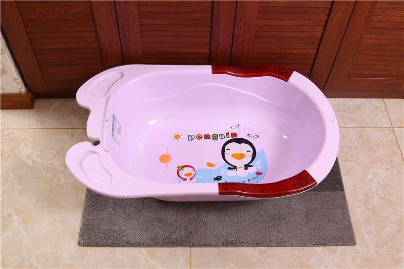 婴儿浴盆宝宝洗澡盆儿童沐浴盆子PP塑料大号无味加厚