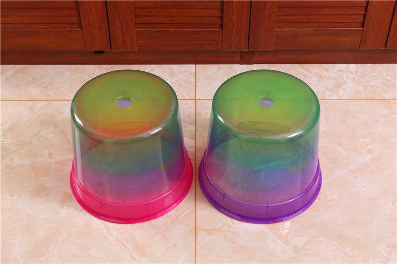 炫彩粉紫小圆凳客厅卧室塑料凳子幼儿园儿童防滑凳