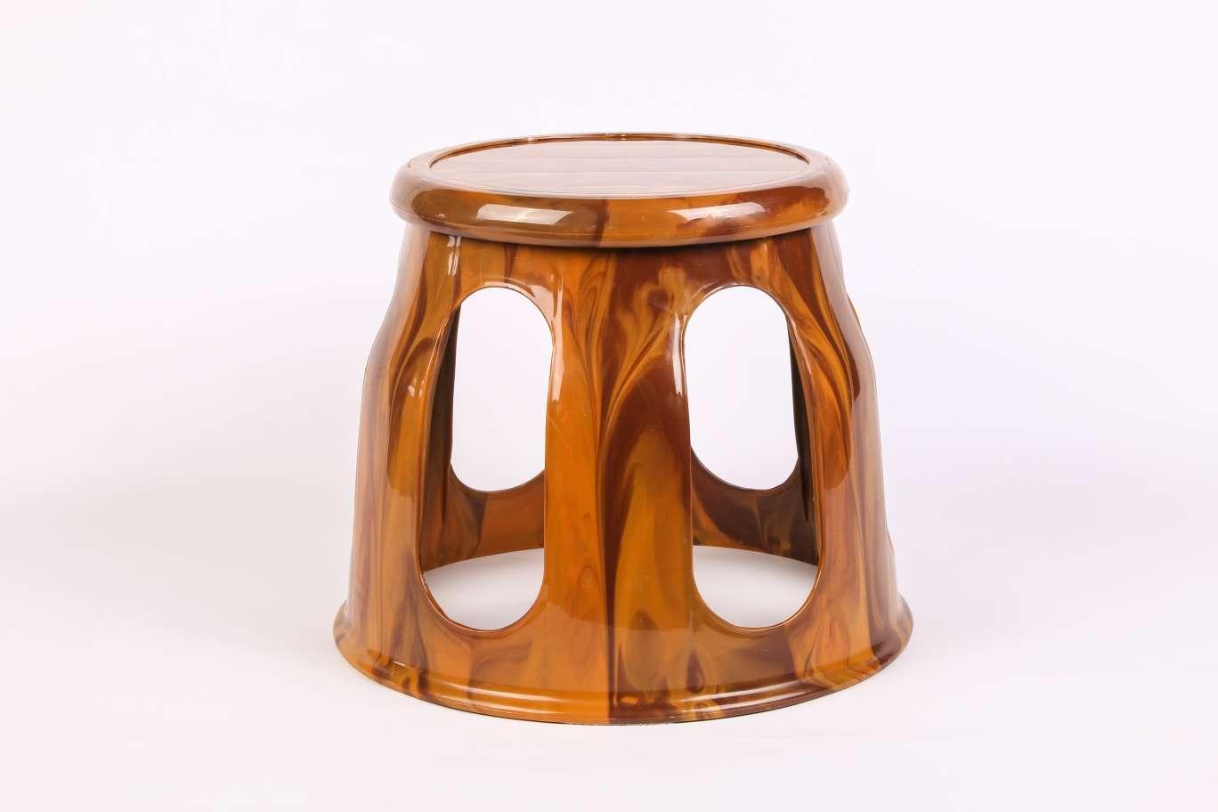 厂家直销仿木纹精品家居塑料板凳客厅小圆凳