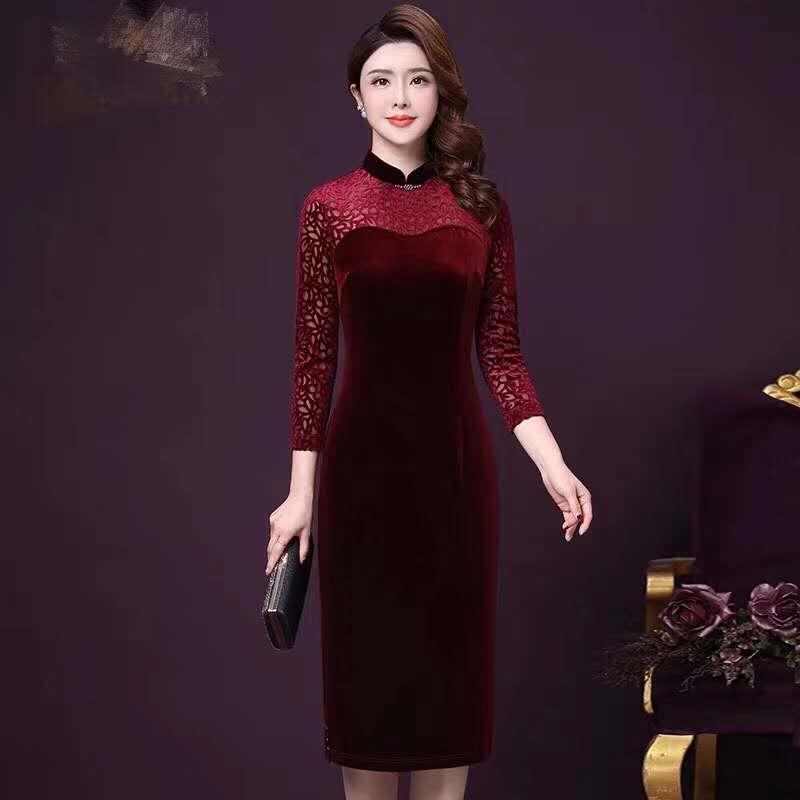 丝绒旗袍3