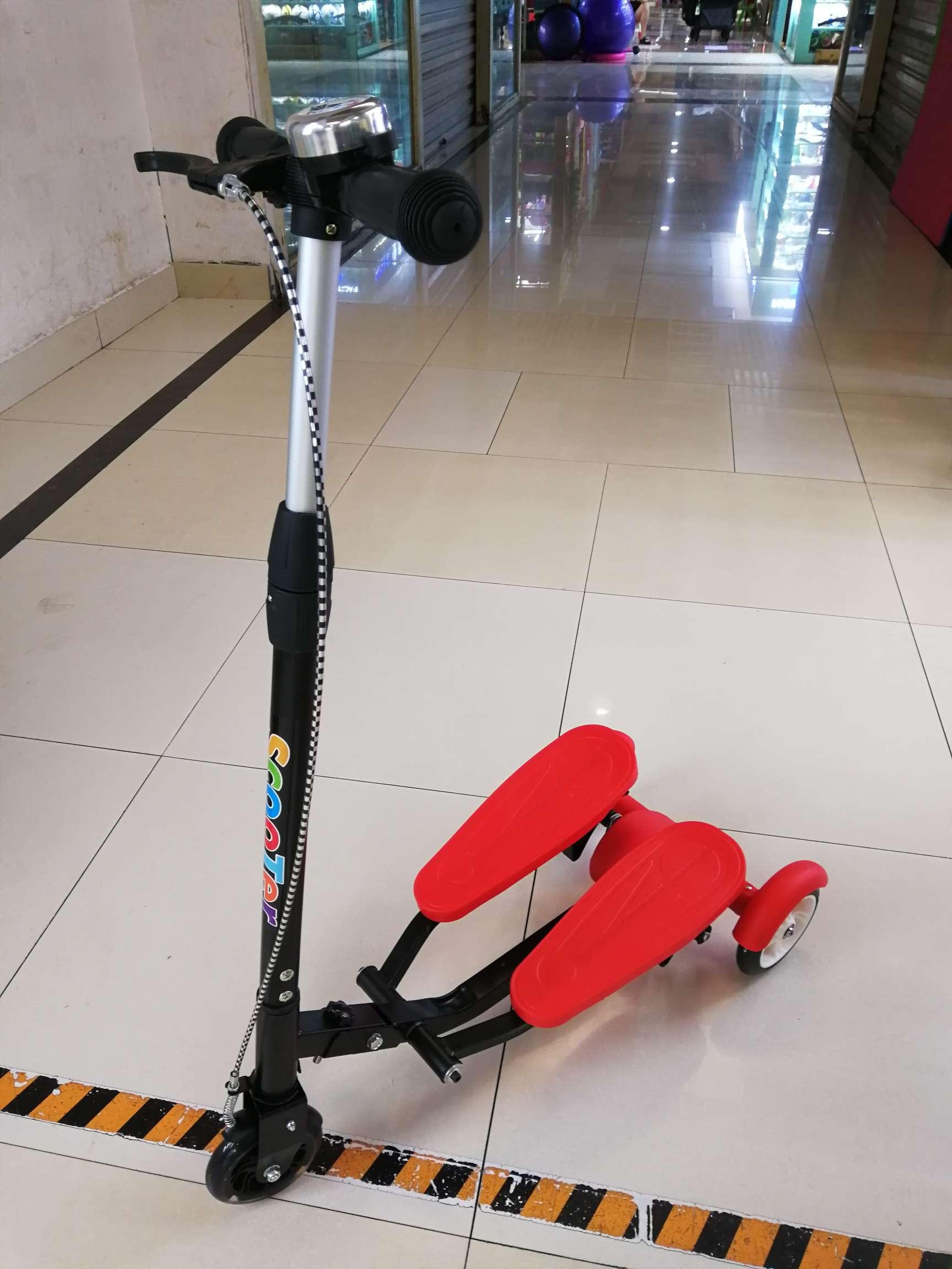 双踏车双翼车滑板车上下踩健身车