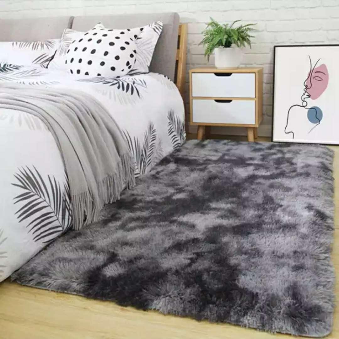 北欧几何图案地毯 客厅简约卧室满铺茶几垫沙发床边毯B黄色