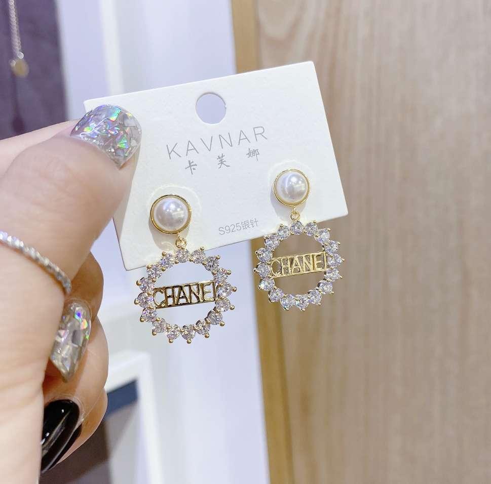 韩国火爆轻奢小香字母耳环