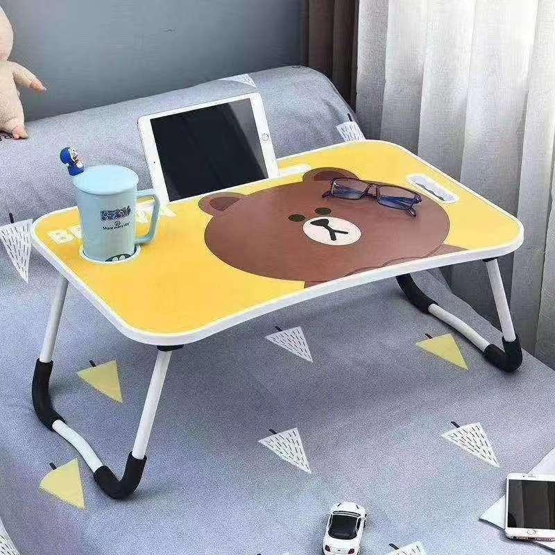 床上书桌折叠小桌子懒人书桌卡通图案桌吃饭学习桌电脑桌
