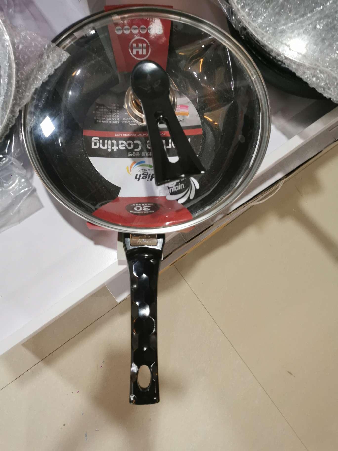 韩福特不粘锅30cm+锅盖+礼盒(麦饭石)