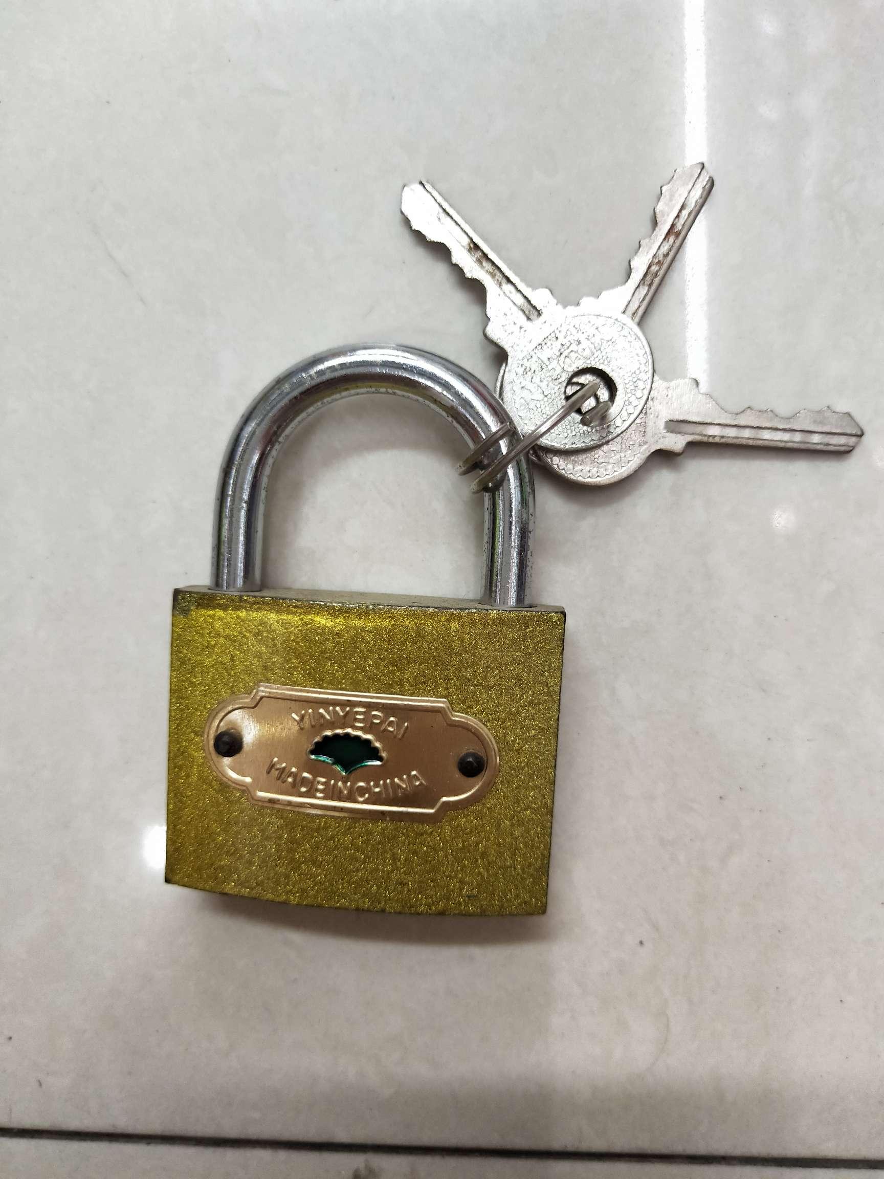 银叶50mm仿铜锁 箱包锁 抽屉小锁头 学校专用防铜小挂锁 厂价直销
