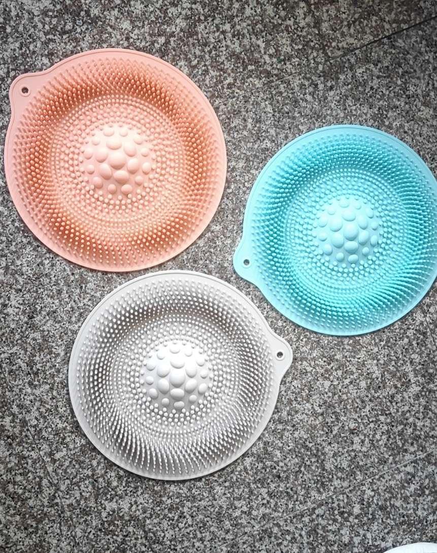 硅胶 创意浴室防滑垫硅胶材质垫硅胶脚底按摩器足部按摩垫子