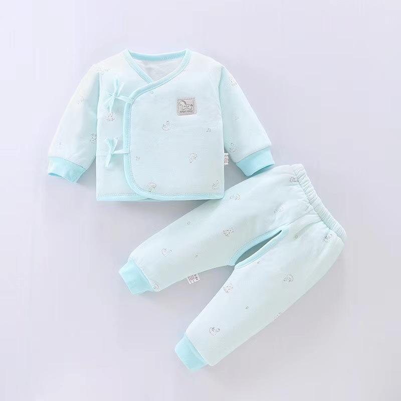 新生儿蓝系棉质服两件套