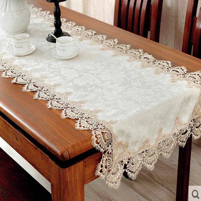 经典款欧式桌布 桌旗 椅套 优雅蕾丝桌布 40*150cm¥18