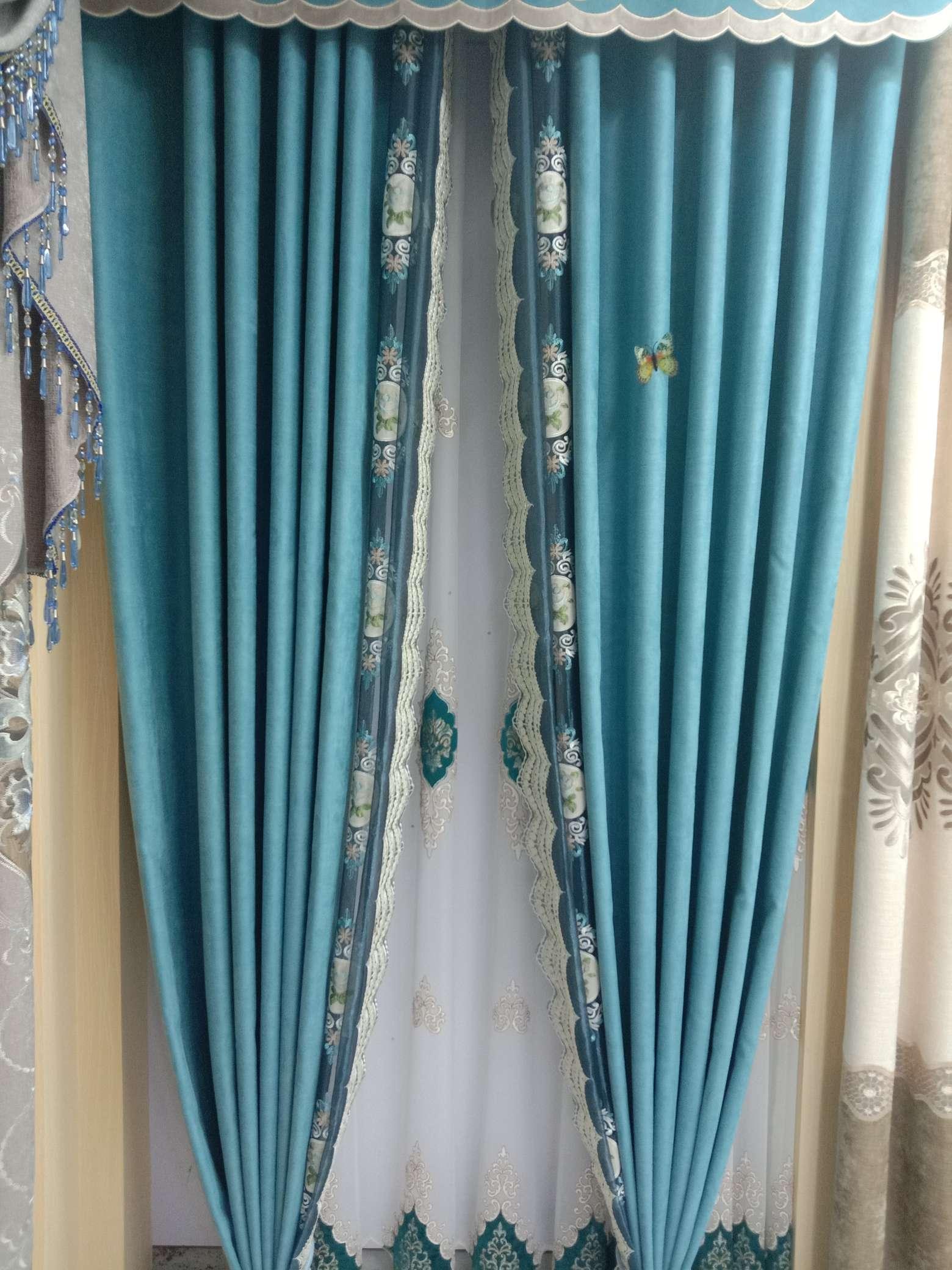 鹿皮绒全遮阳窗帘布