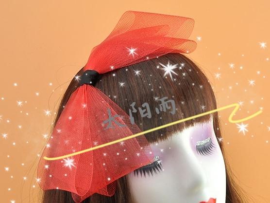 弹力网创意蝴蝶结 头箍 头饰  工艺品  diy 饰品配件。。