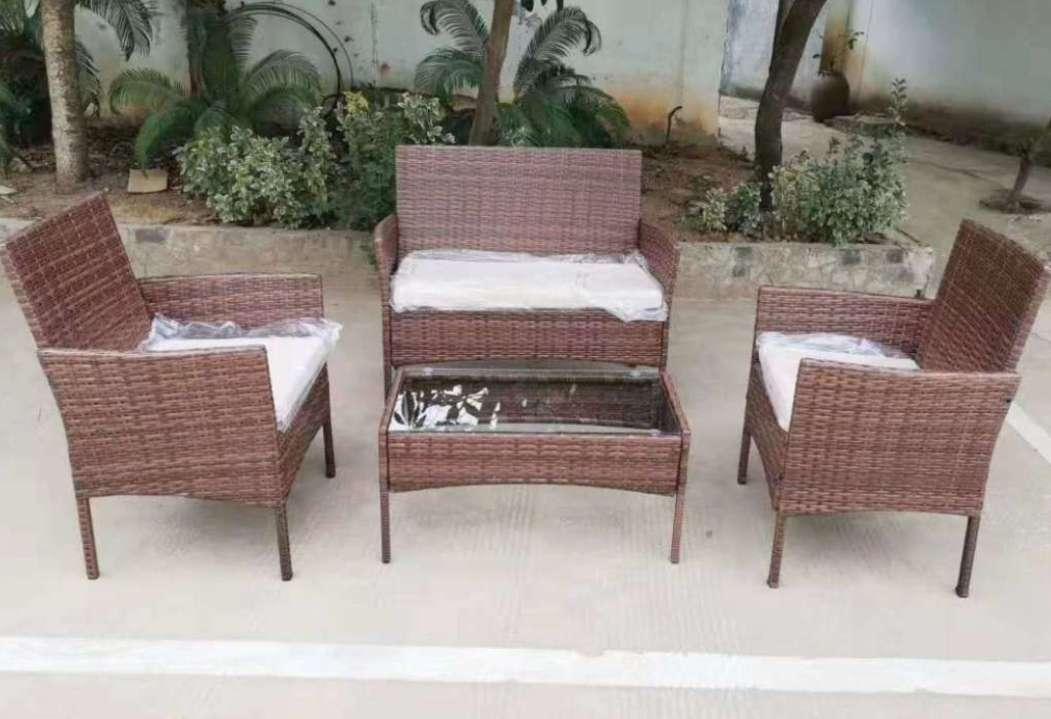 编藤沙发四件套休闲阳台花园庭院藤编户外家具藤椅四件套