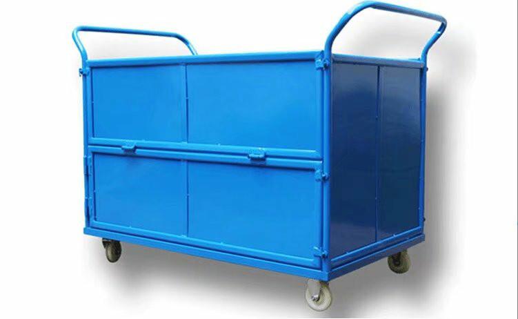 铁板箱式手推车,平板车,推货车承重力强结实耐用全新升级
