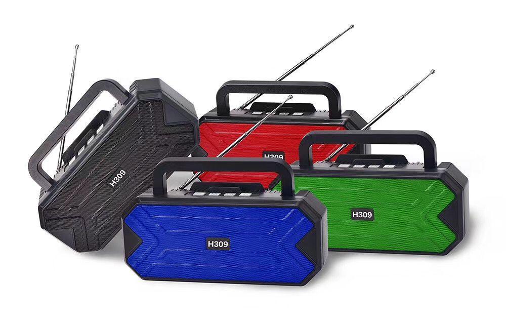 H309 2020流行新款蓝牙音箱 手机支架双喇叭无线蓝牙音响
