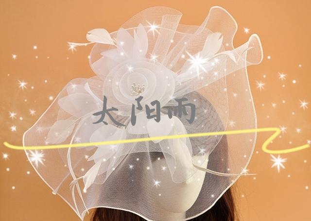 头箍  头花🌸  头饰  工艺品  饰品配件 弹力网蝴蝶结 婚纱礼服头饰