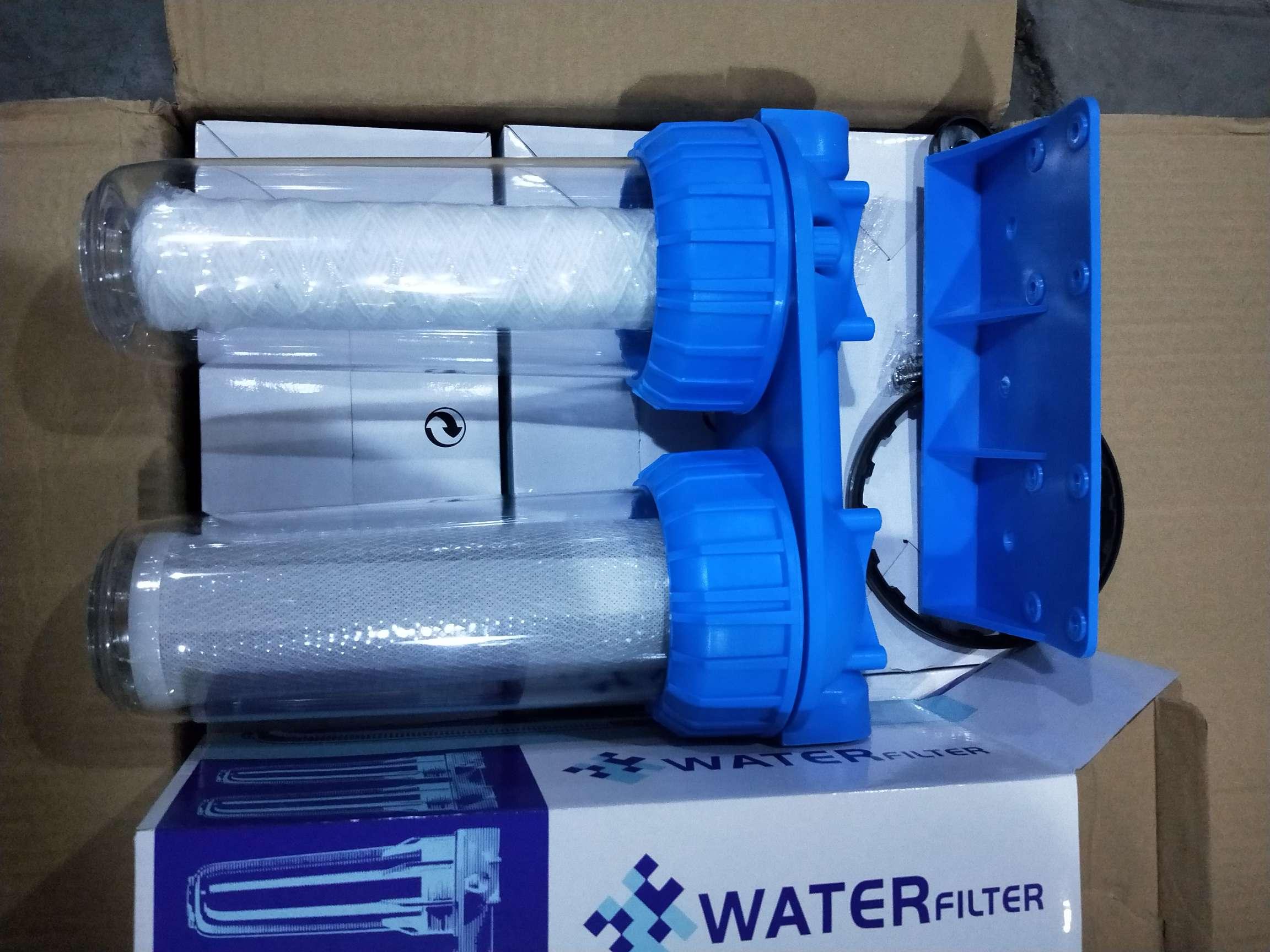 仿意式俄罗斯净水器二级三级蓝色透明瓶 water purifucation filter 2 two 3 stage