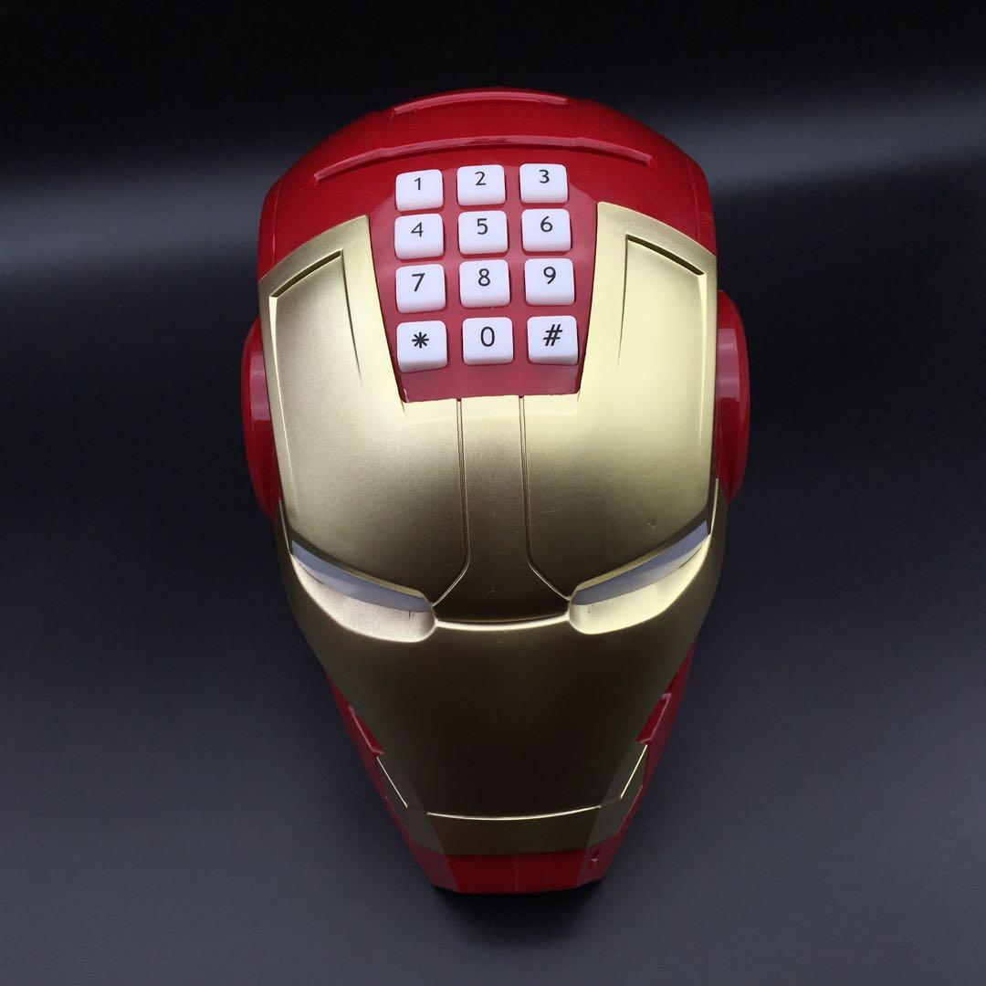 创意钢铁侠模型存钱罐儿童漫威防摔储蓄罐超大号储蓄罐密码箱男孩小礼物