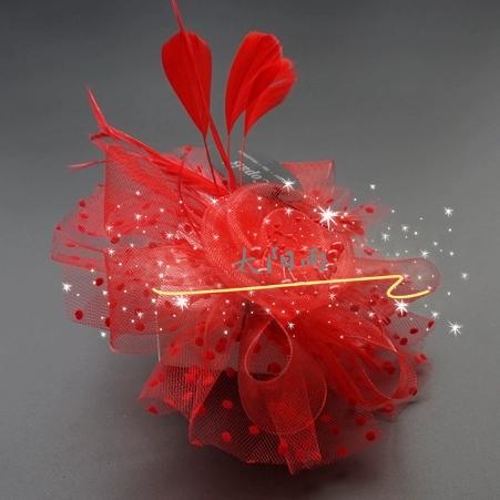 弹性纱网厂家直销 头饰 头花  DIY 装饰材料   花。