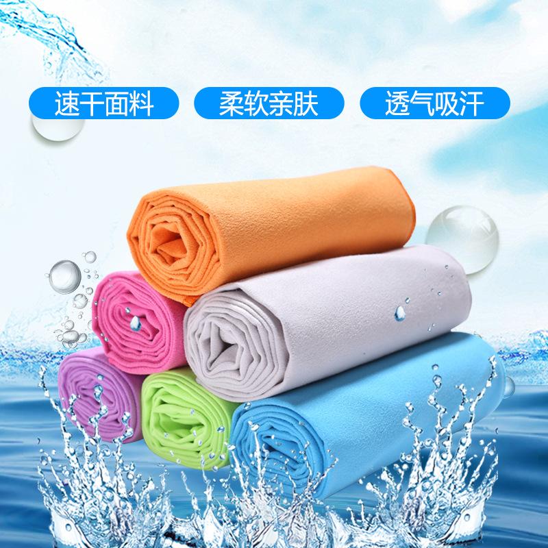 厂家直销 跨境超细纤维运动吸汗速干毛巾双面绒擦汗巾