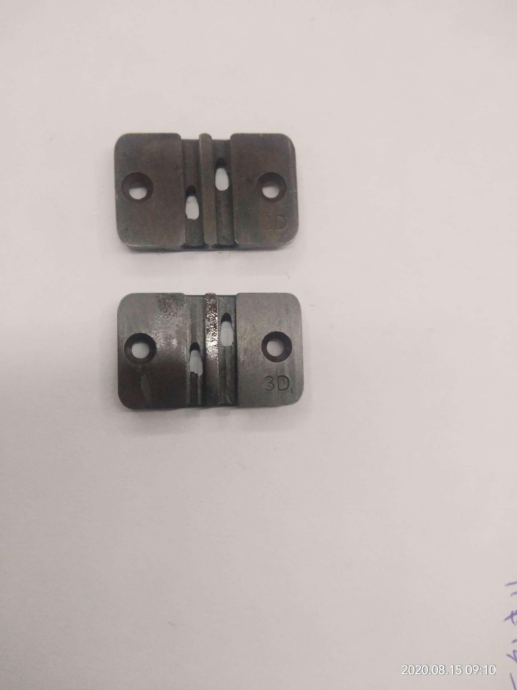 拉链机械缝合机配件通用进口3号双针小针板