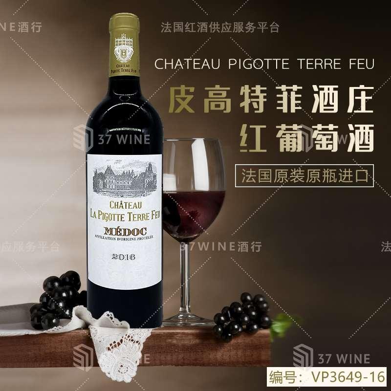 法国红酒 皮高特菲酒庄红葡萄酒 CHATEAU PIGOTTE TERRE FEU