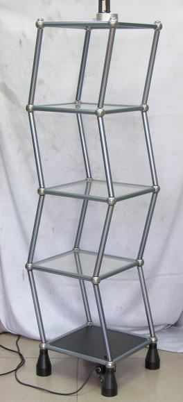 铝合金柱子亚克力层板电动摇摆架,跳舞架,尺寸35*35*150cm*5层,有S管和直管,220V或者110V电压,