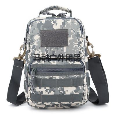 迷彩背包单肩斜挎包跨包户外登山防水小包手提休闲时尚战术包