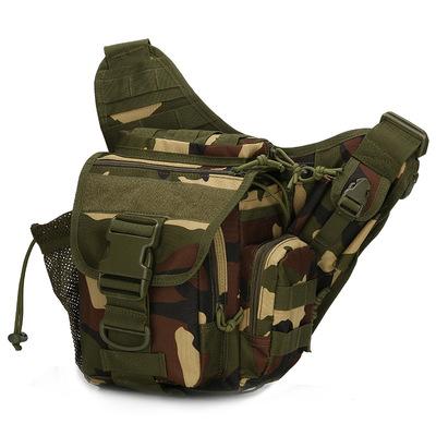 迷彩单肩包 战术鞍袋斜挎包野外腰包