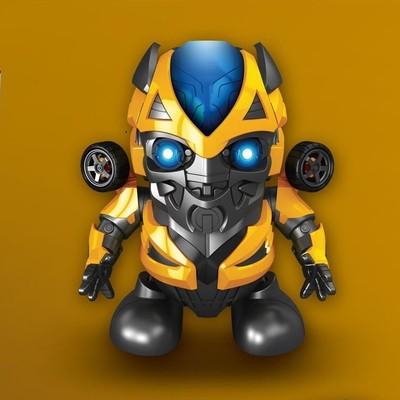 现货会跳舞的大黄蜂机器人抖音同款玩具变形金刚灯光音乐电动
