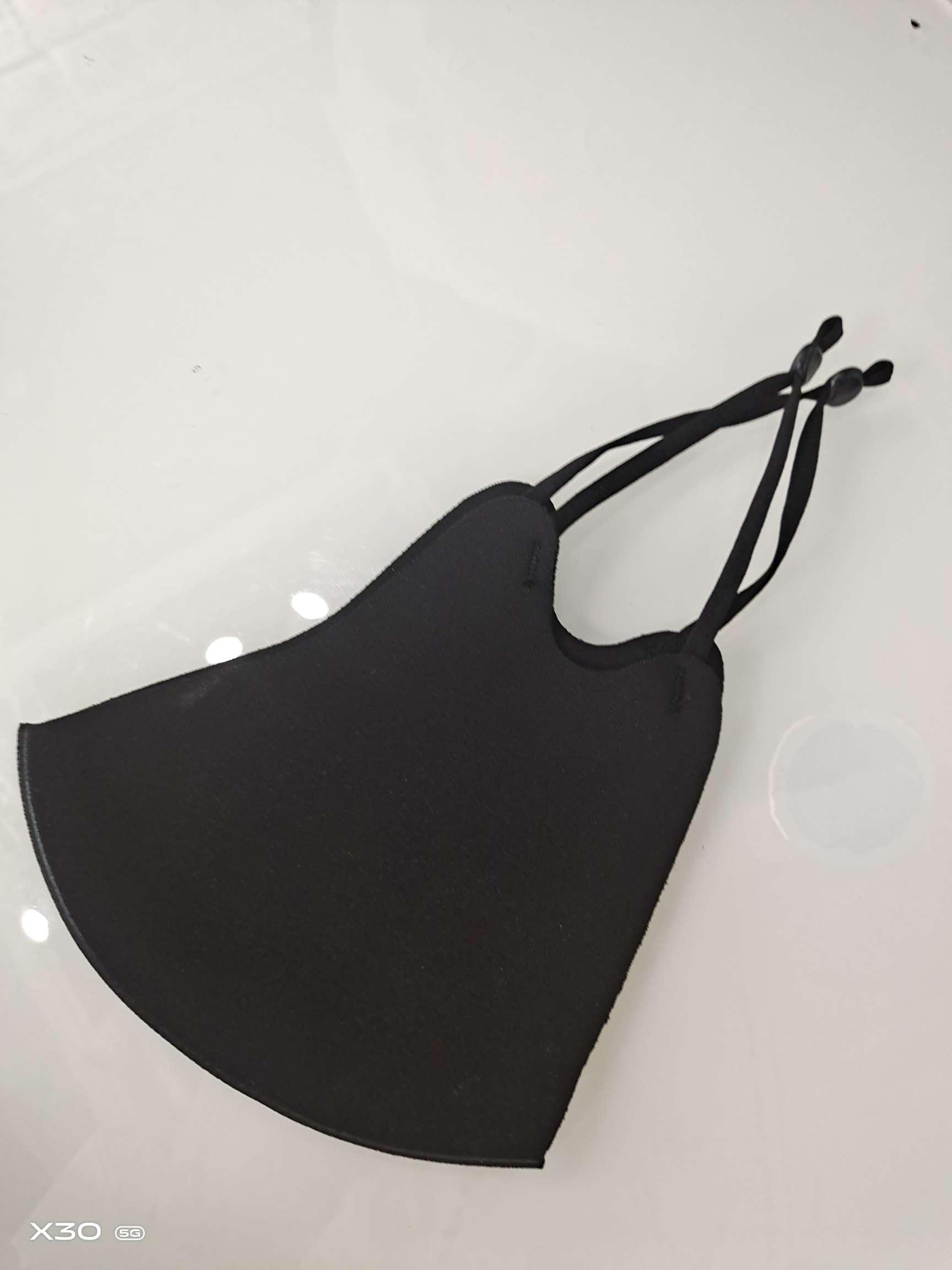 可调节黑色夹棉口罩