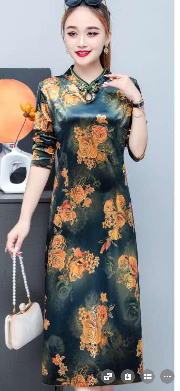 旗袍修身五个码花型很多设计华美绚丽时尚光鲜靓丽魅力十足