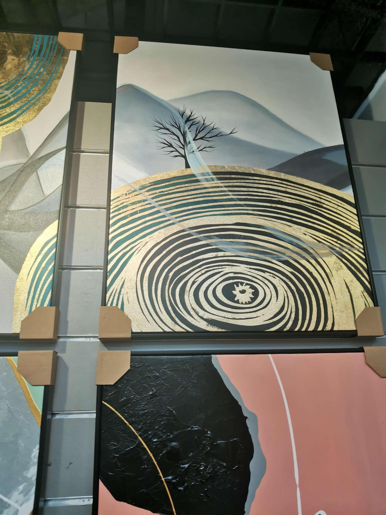 欧式餐厅装饰画饭厅餐桌横幅画 单幅简美风格静物油画挂画墙画低奢